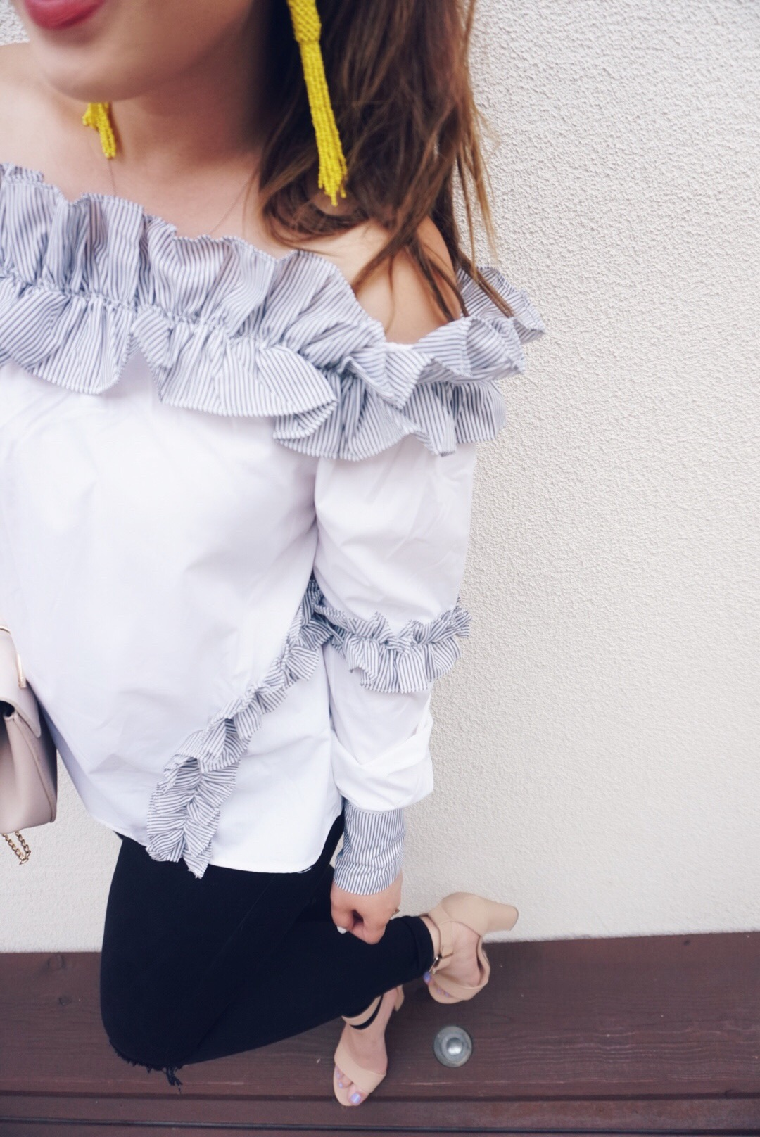 Ruffle Details + Top is Only $35!